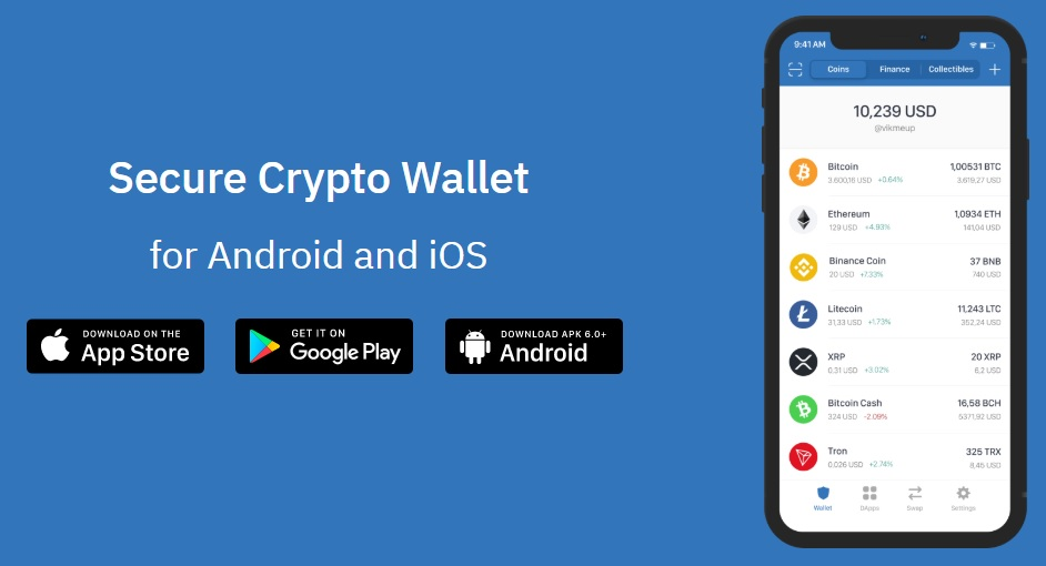 Bitcoin lompakko - TrustWallet