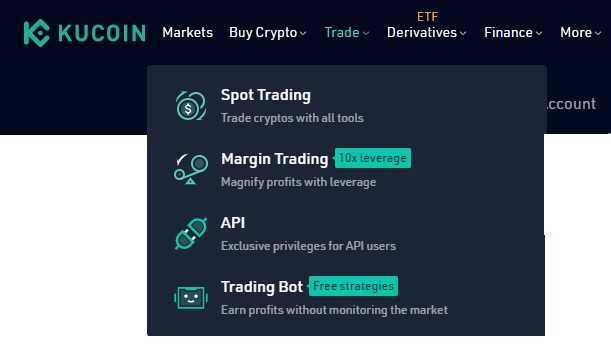 trade-valikko