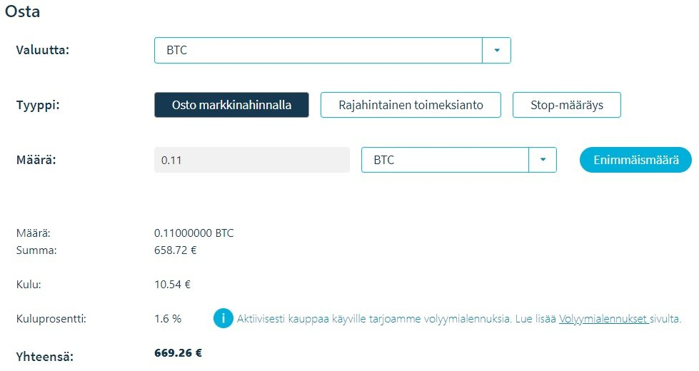 Bitcoin ostaminen Coinmotionista