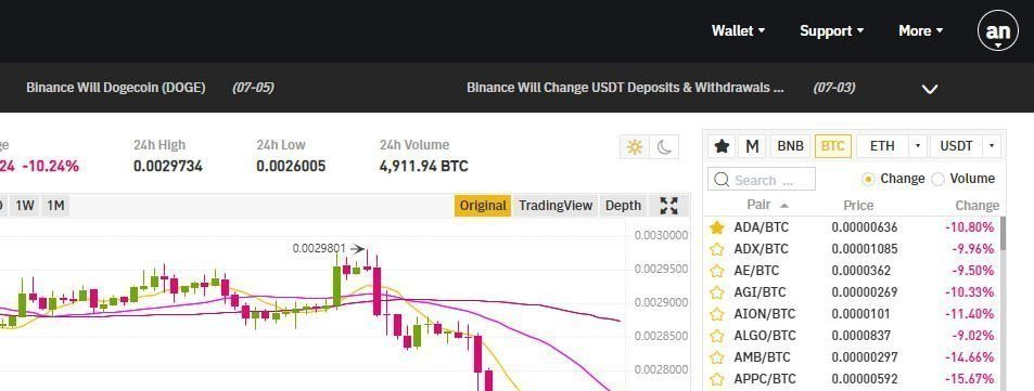 binance pörssi basic