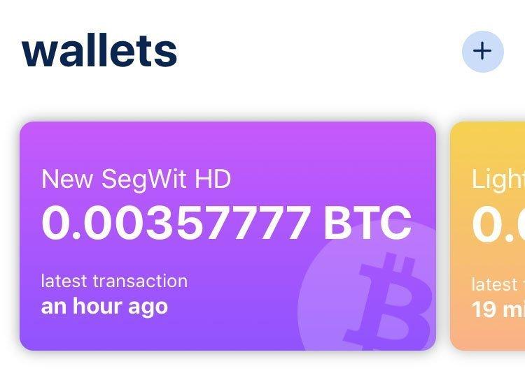 bluewallet bitcoin lompakko