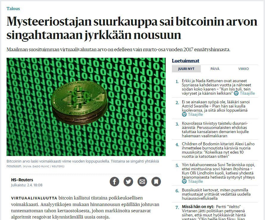hs reuters bitcoin