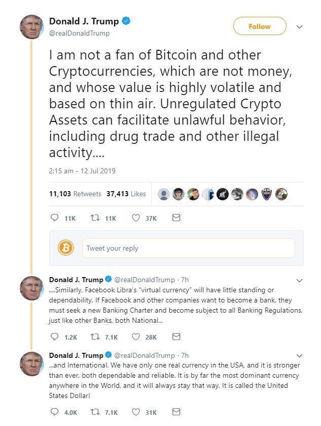 donald trump bitcoin twiitti