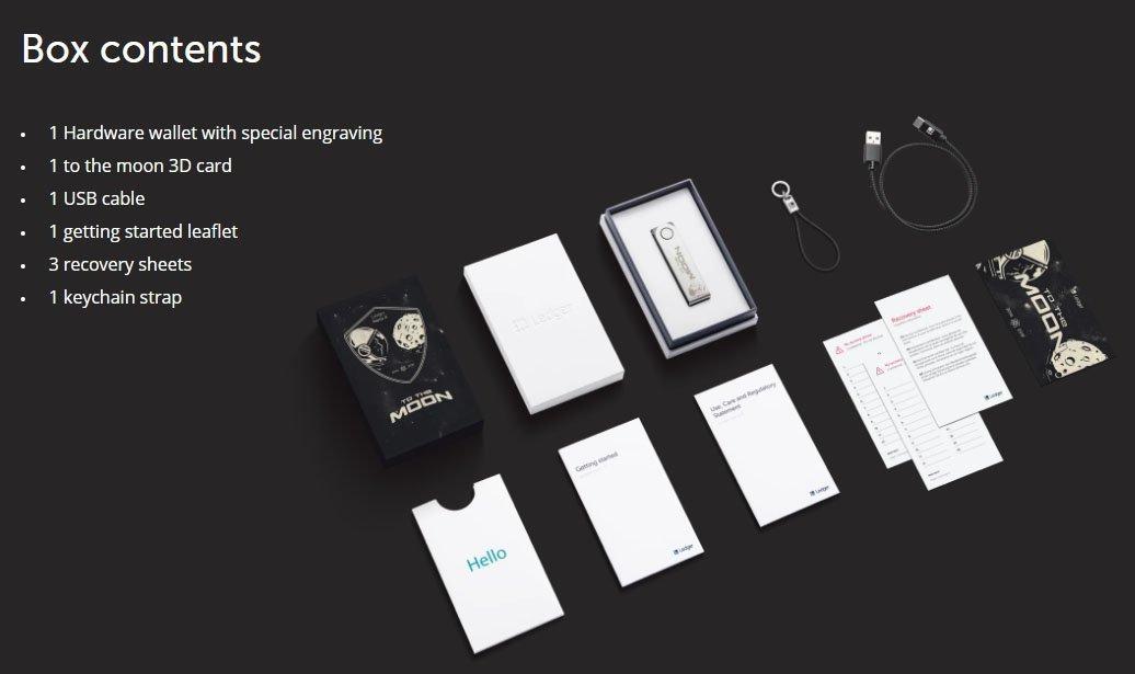 ledger nano x to the moon box contents