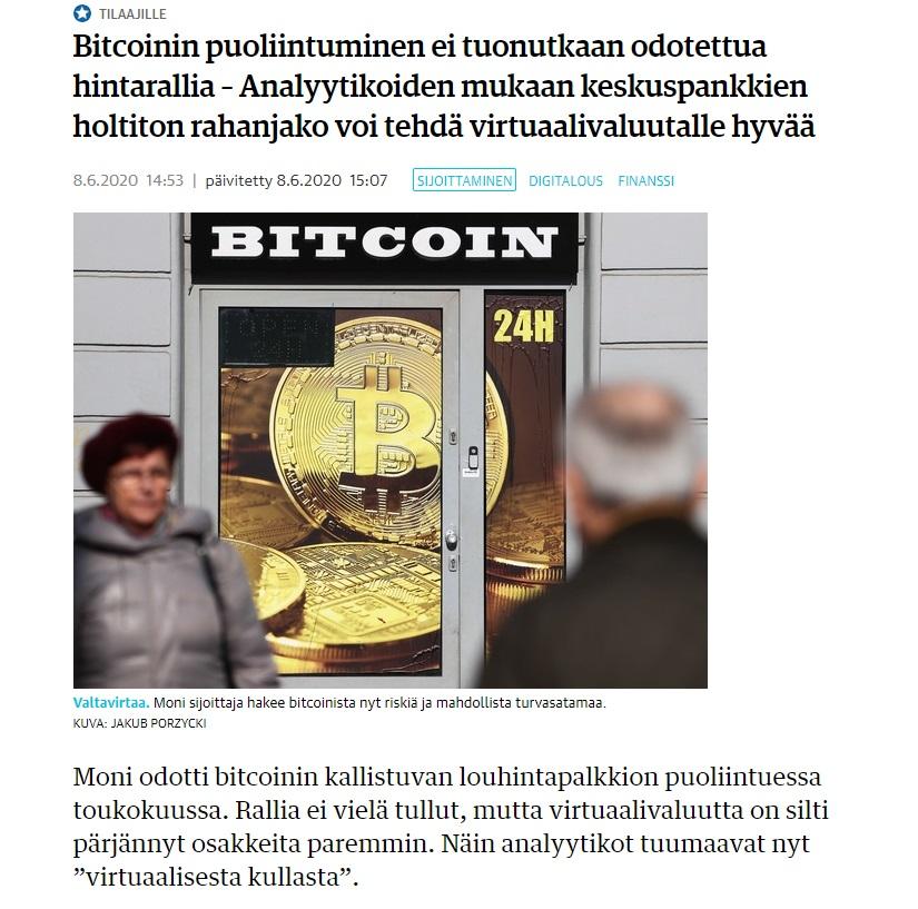 kauppalehti bitcoin uutinen