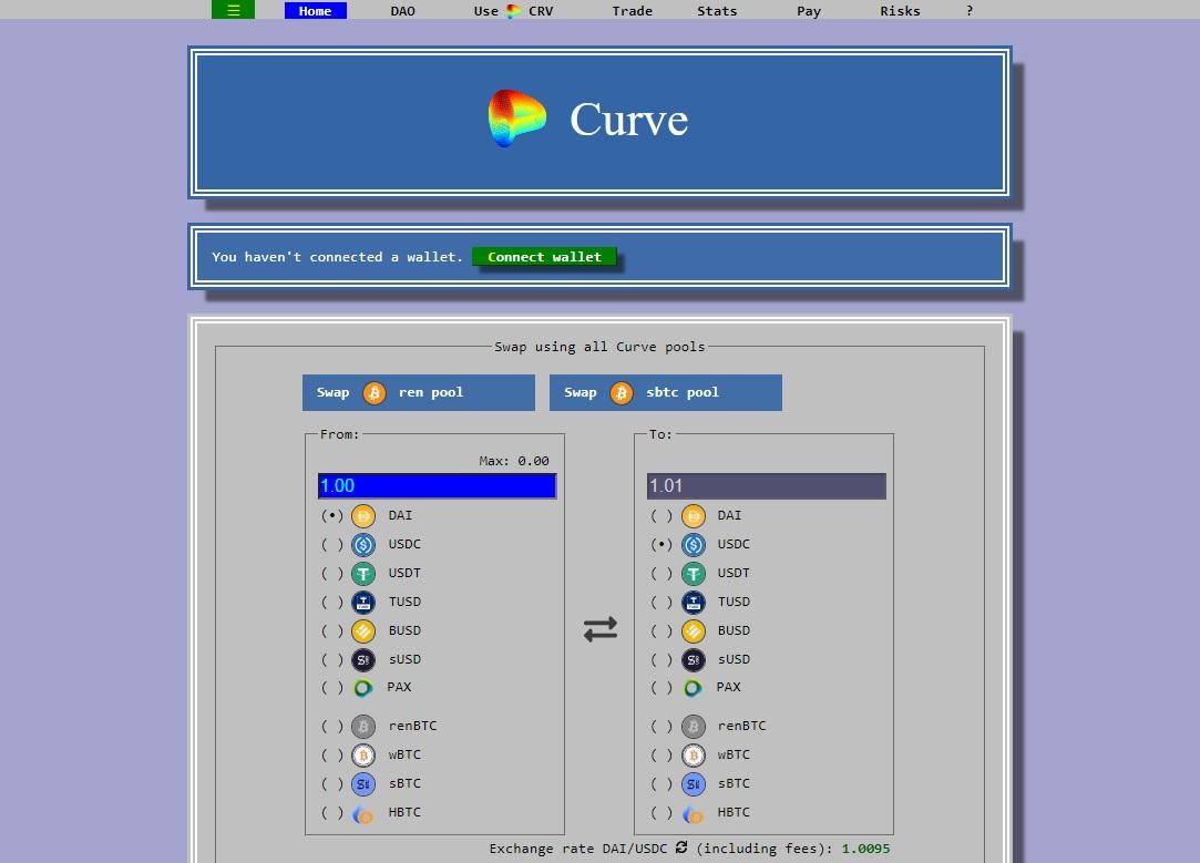 curve finance etusivu