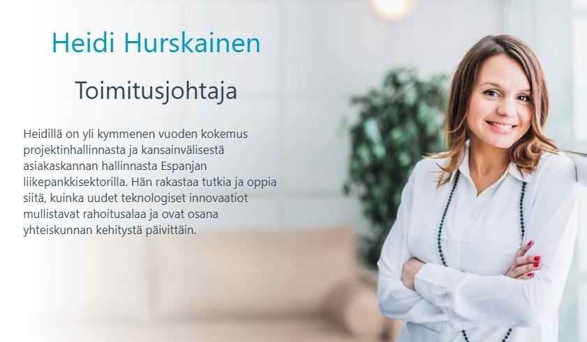 Heidi Hurskainen Coinmotion