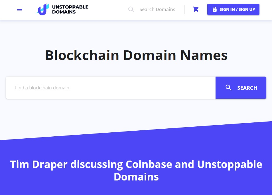 unstoppable-domains-etusivu