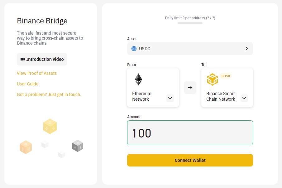 Binance Bridge 100 USD