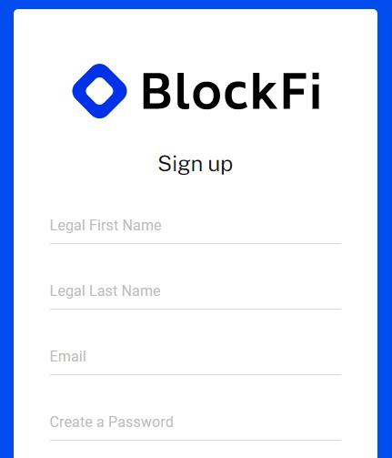 BlockFi kokemuksia - rekisteröinti