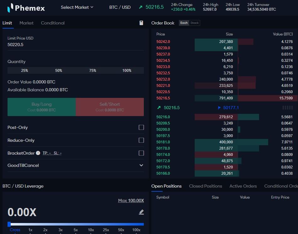 Phemex kokemuksia - contract trading