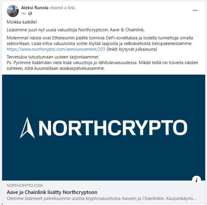 northcrypto facebook